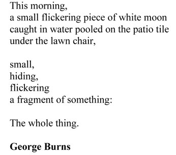 reminder by george burns